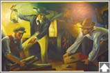 Mural: Removal of the County Seat