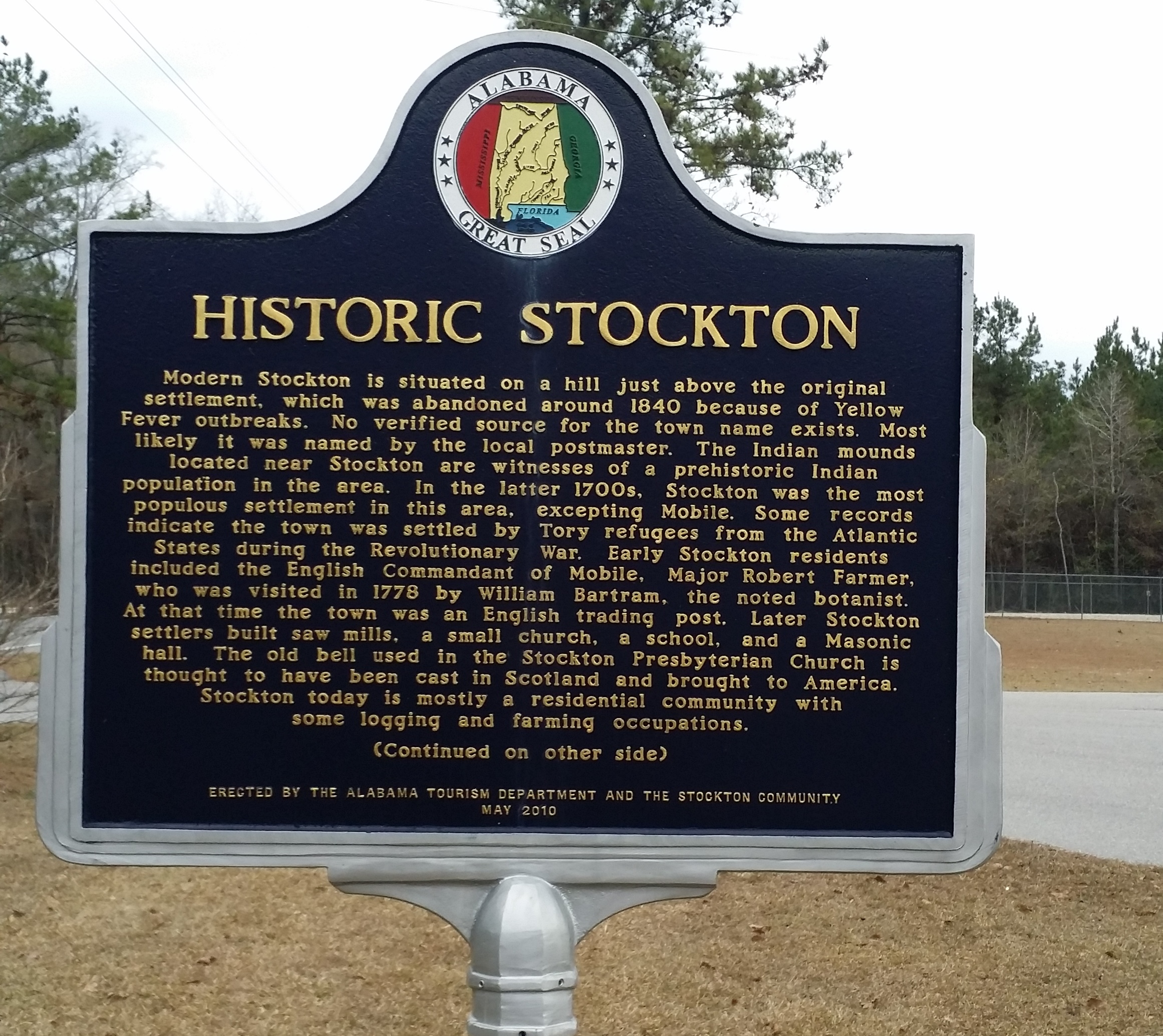 Historic Stockton/Old School Park & Marker