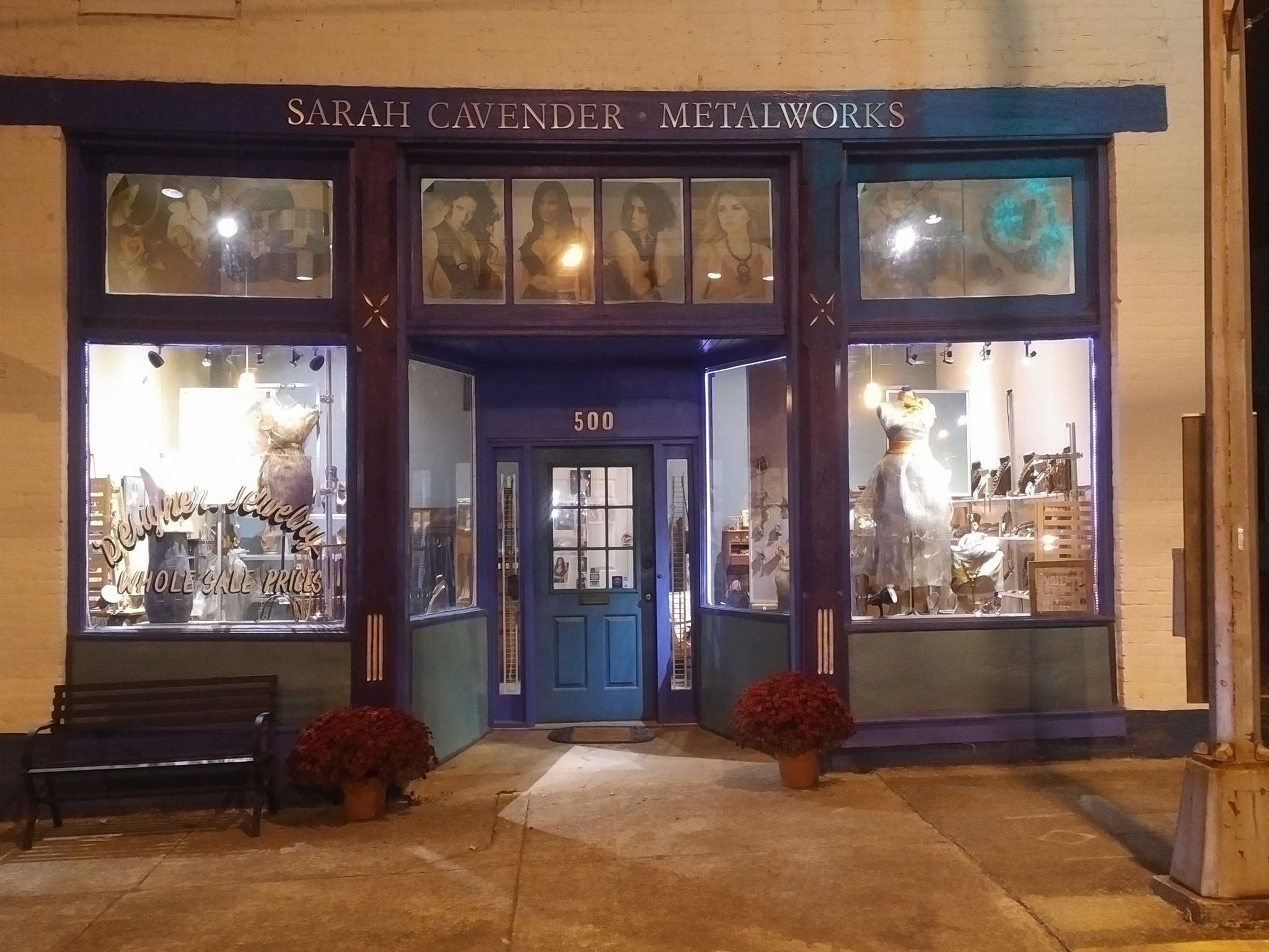 Sarah Cavender Metalworks, Maker of handcrafted metal mesh jewelry in Downtown Oxford, Alabama