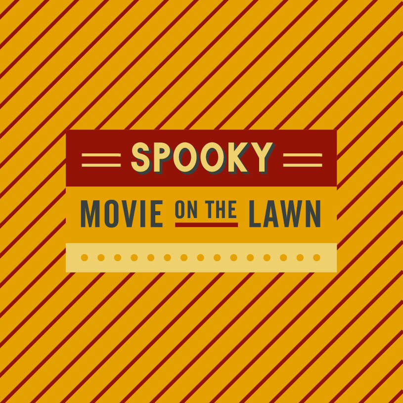 Spooky Movie on The Lawn