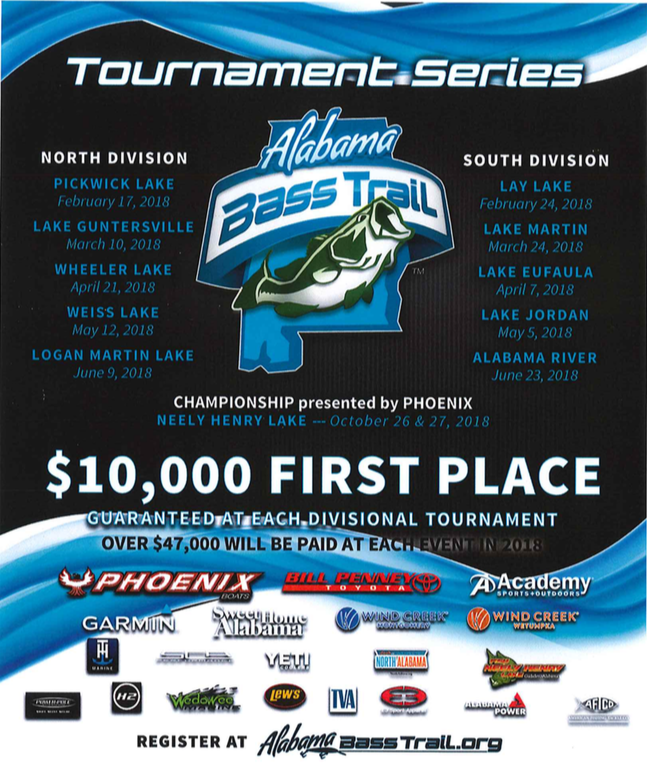 Alabama Bass Trail Tournament Series Cooter's Pond/Alabama River Event