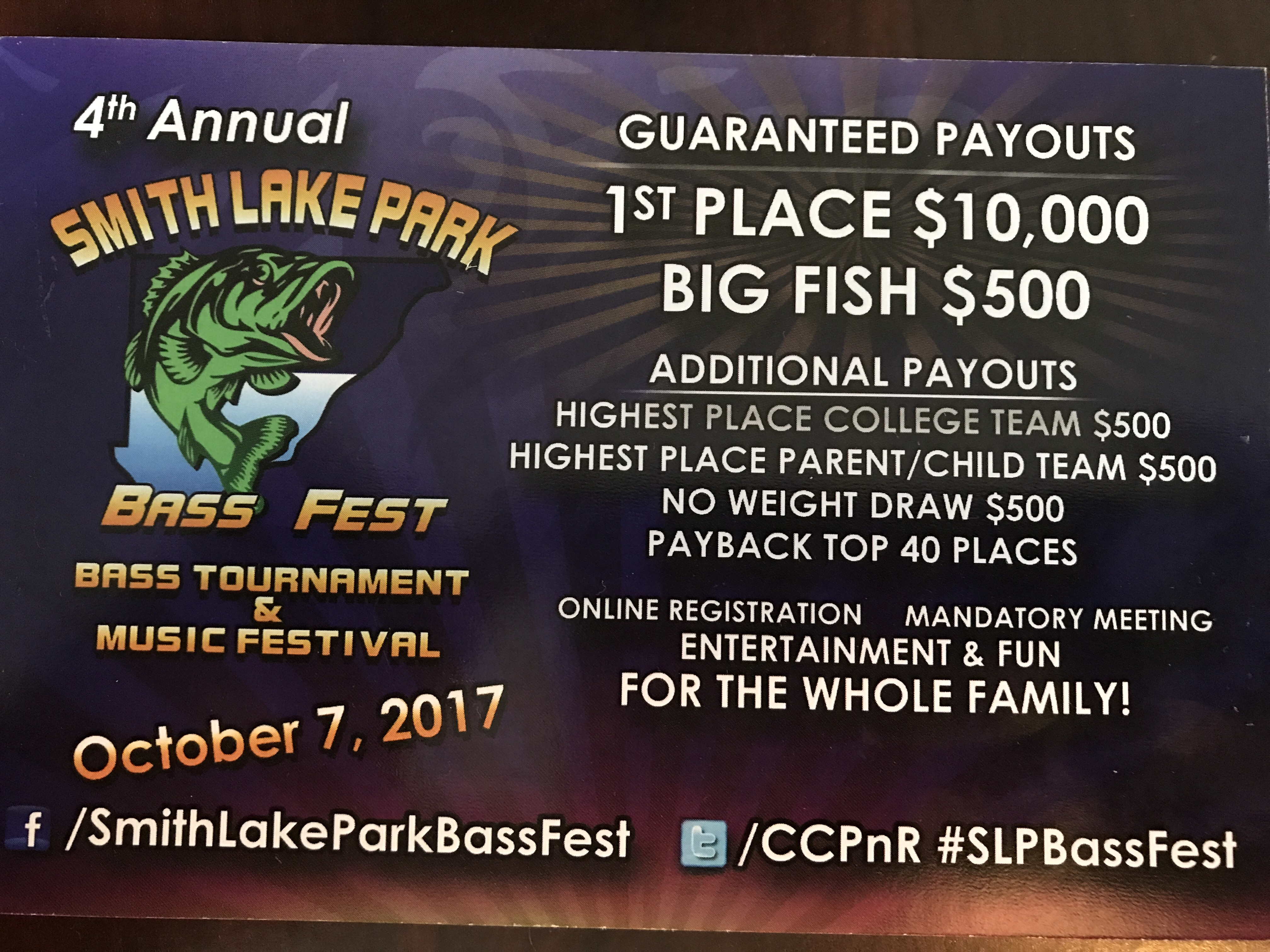 Smith Lake Park Bass Fest 2019