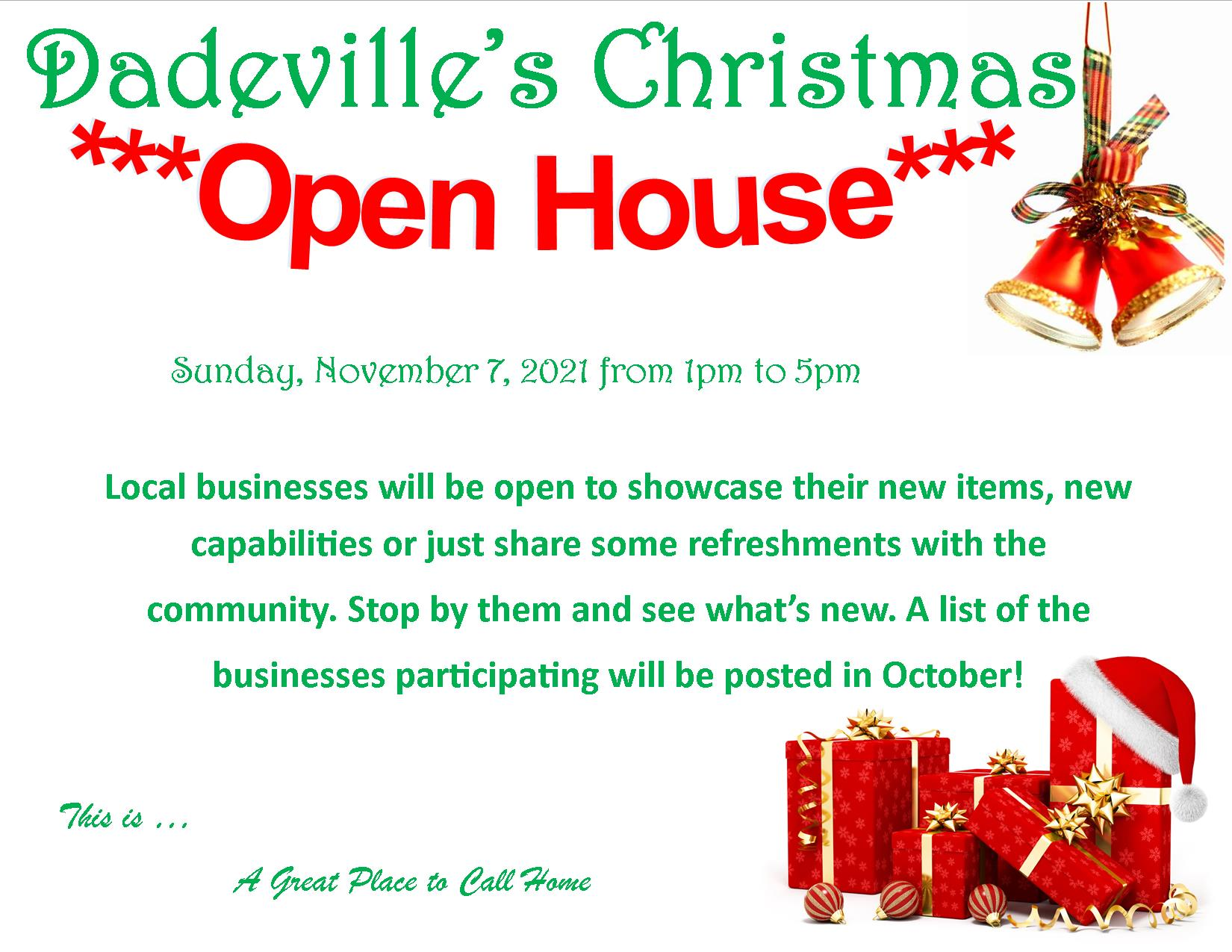 Dadeville Christmas Open House