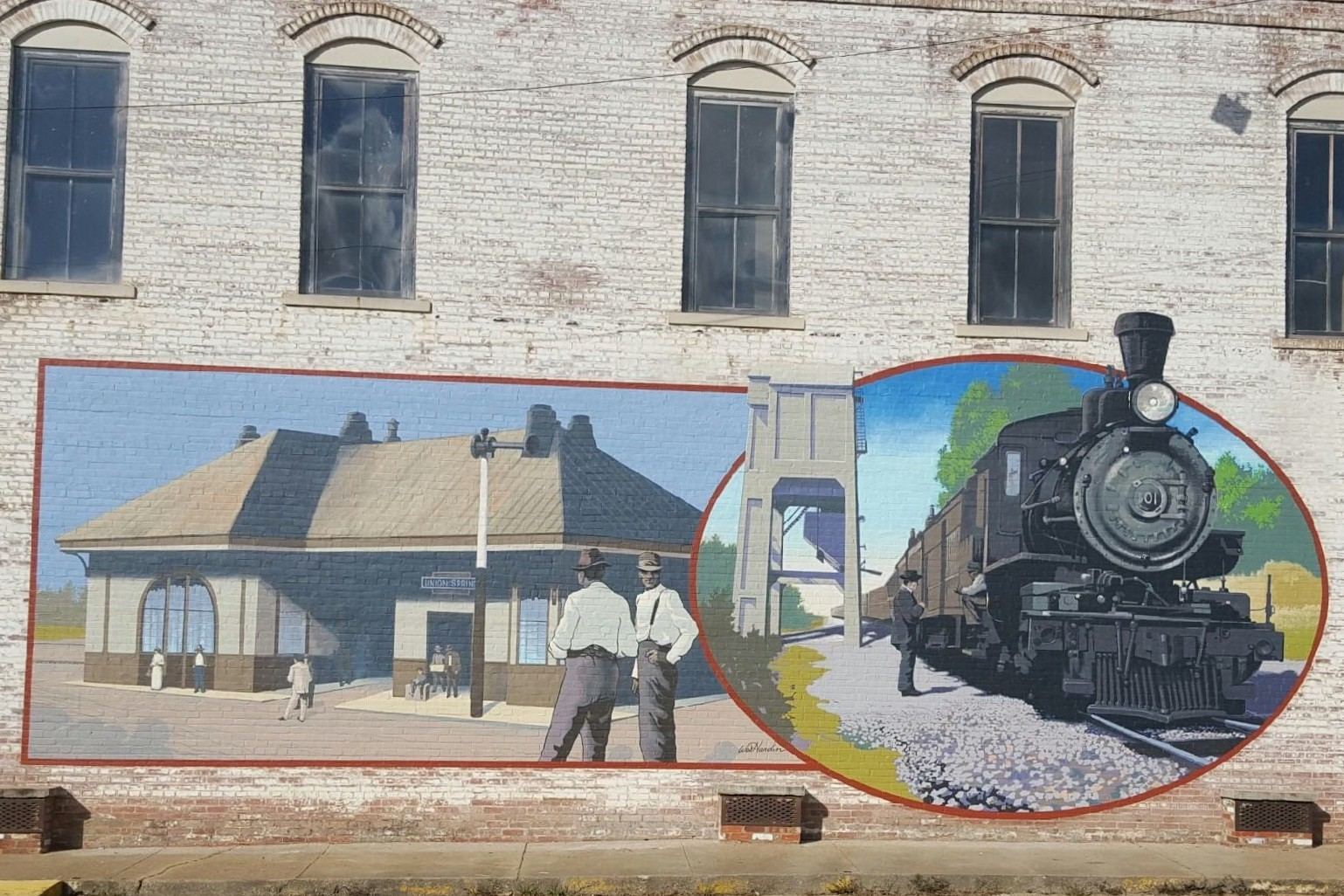 Train Depot and Coal Chute Mural - Murals on Main