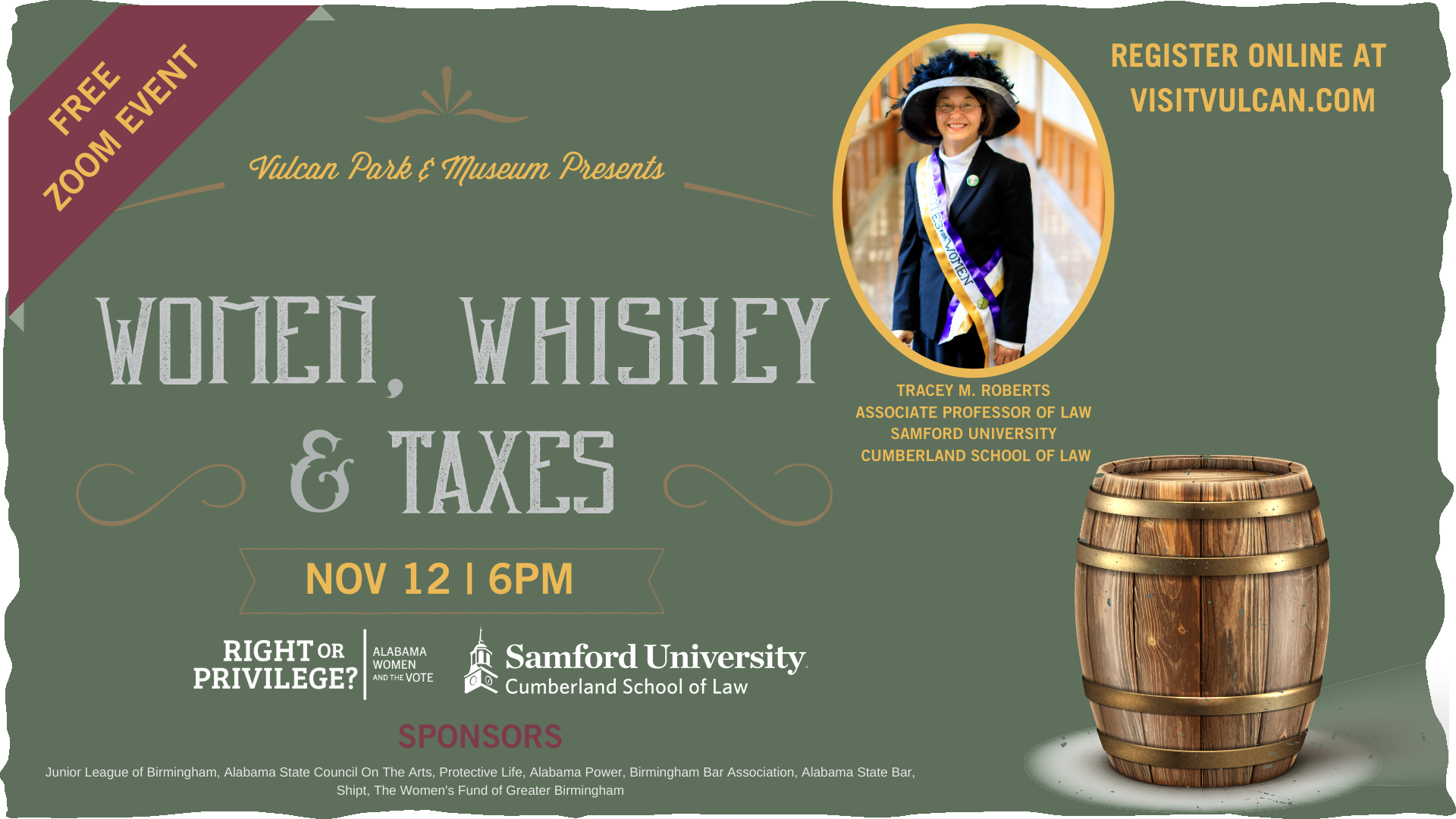 Women, Whiskey & Taxes Lecture