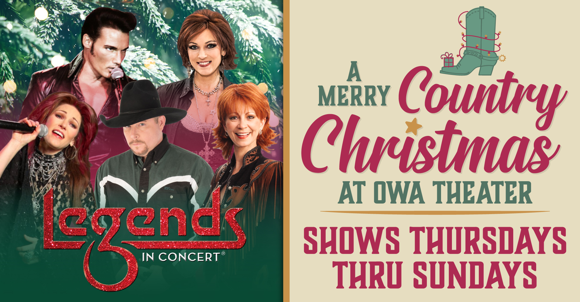 Legends in Concert 🎄 A Merry Country Christmas 🎄