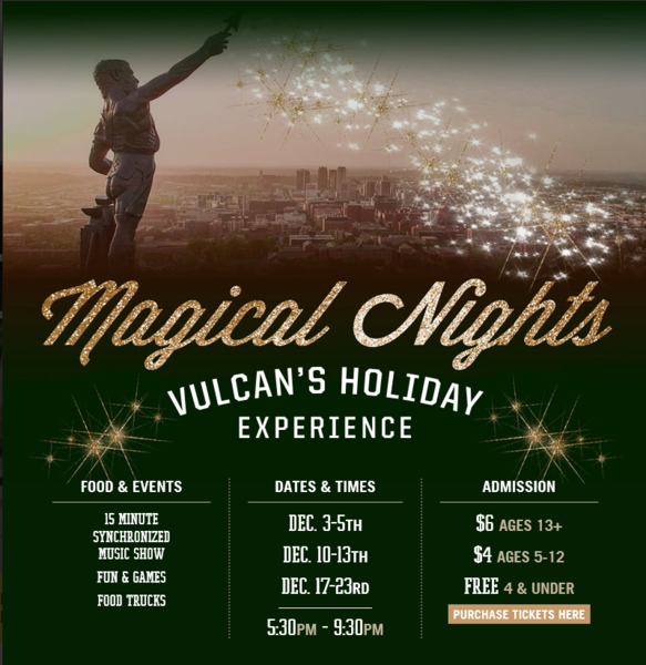 3rd Annual Magic of Lights: Vulcan's Holiday Light Experience