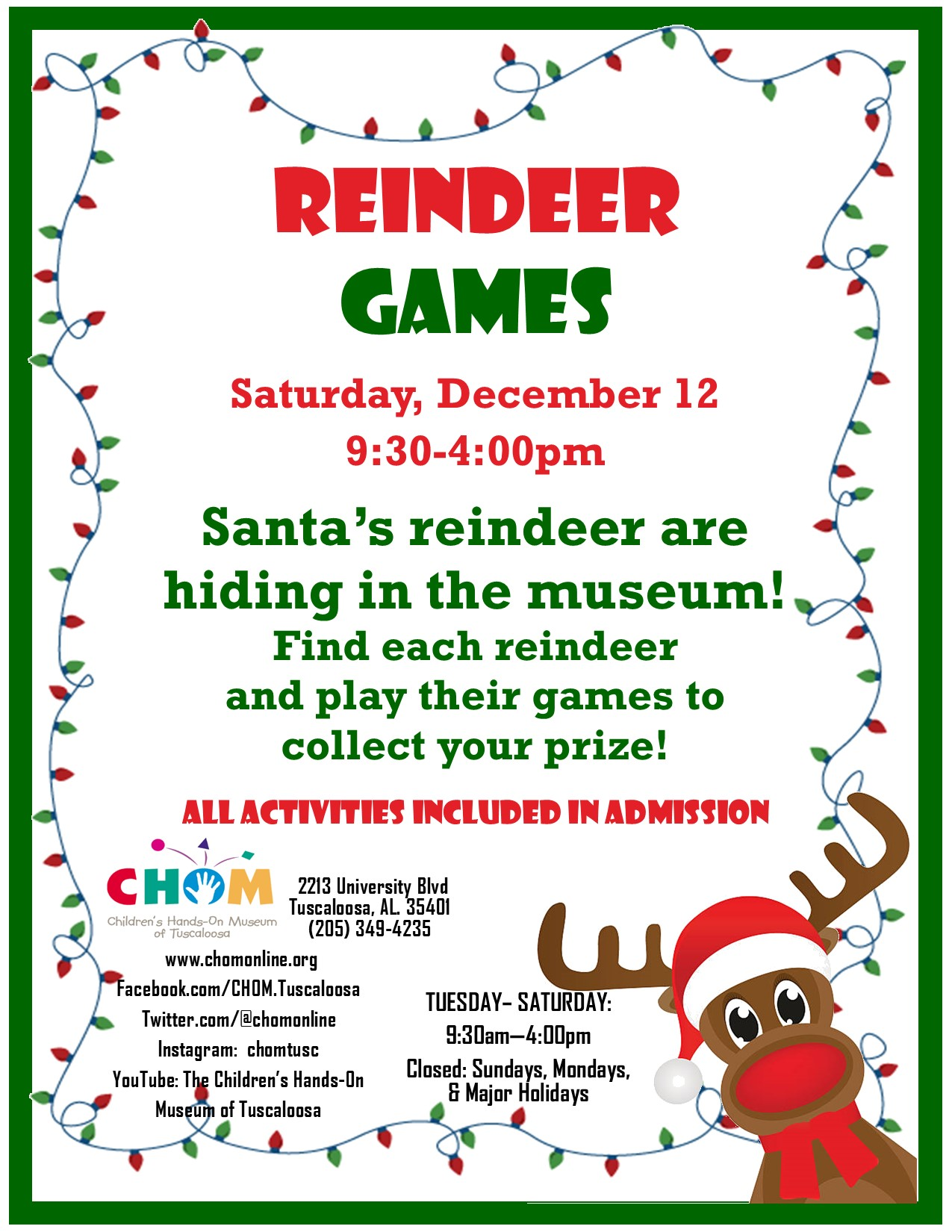Reindeer Games at CHOM!