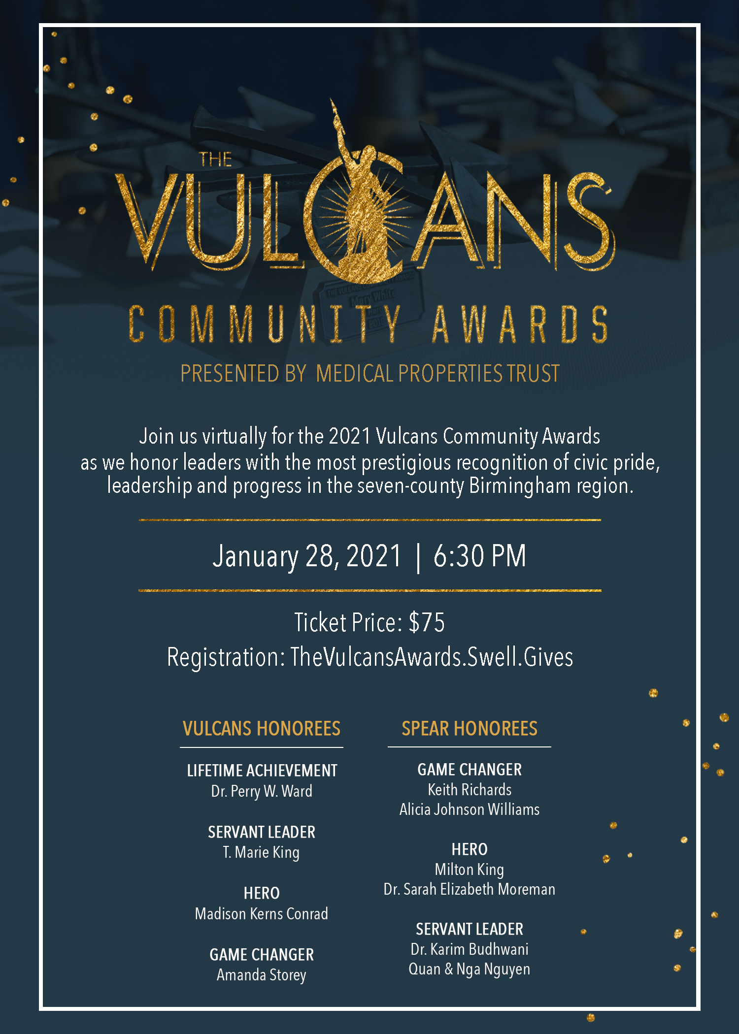 The Vulcans Community Awards Presented By Medical Properties Trust