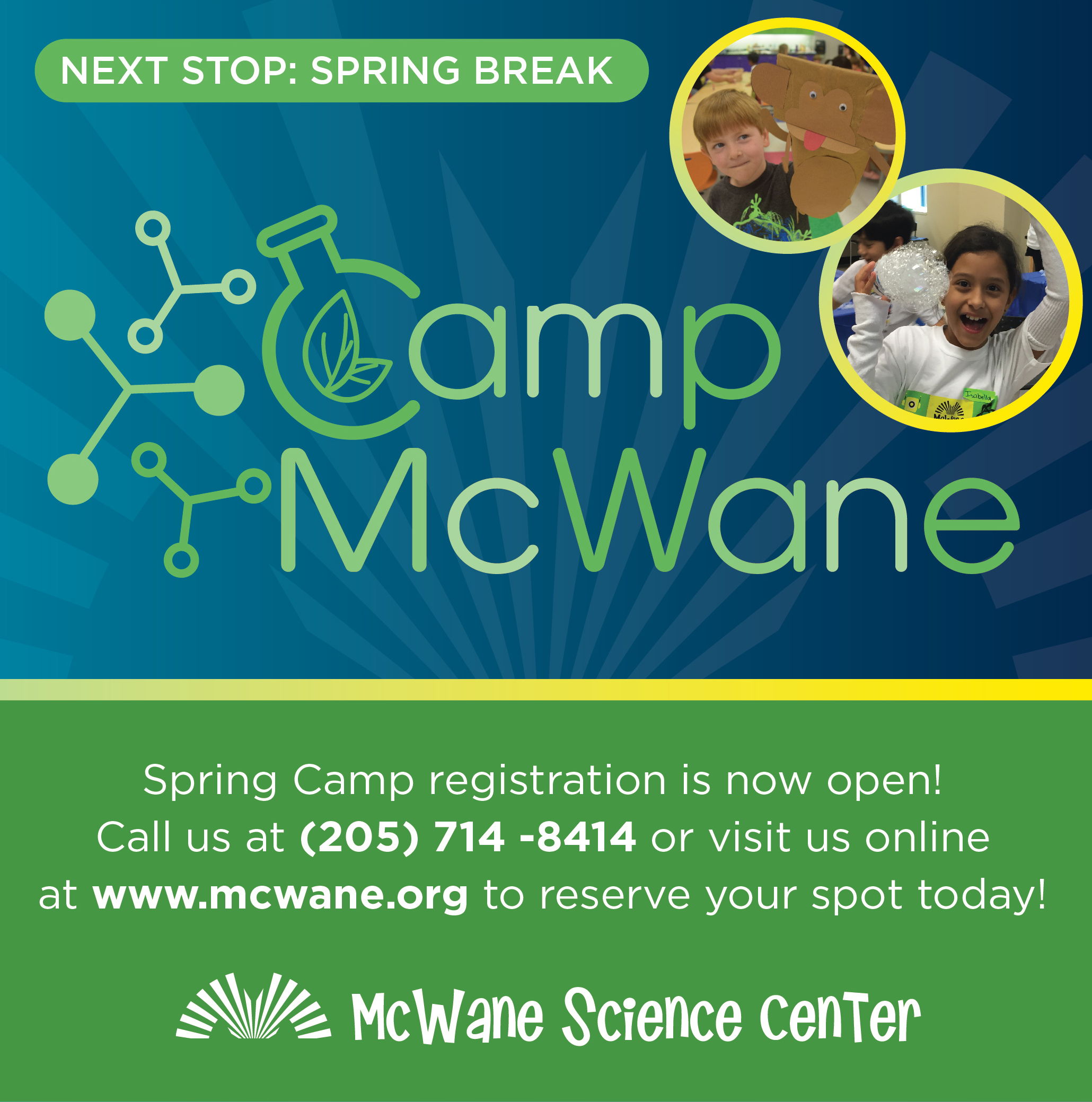 Spring Break Camp! By McWane Science Center!