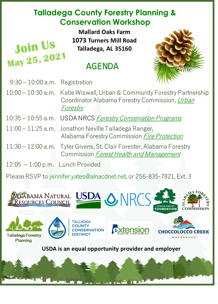 Talladega County Forestry Planning & Conservation Workshop