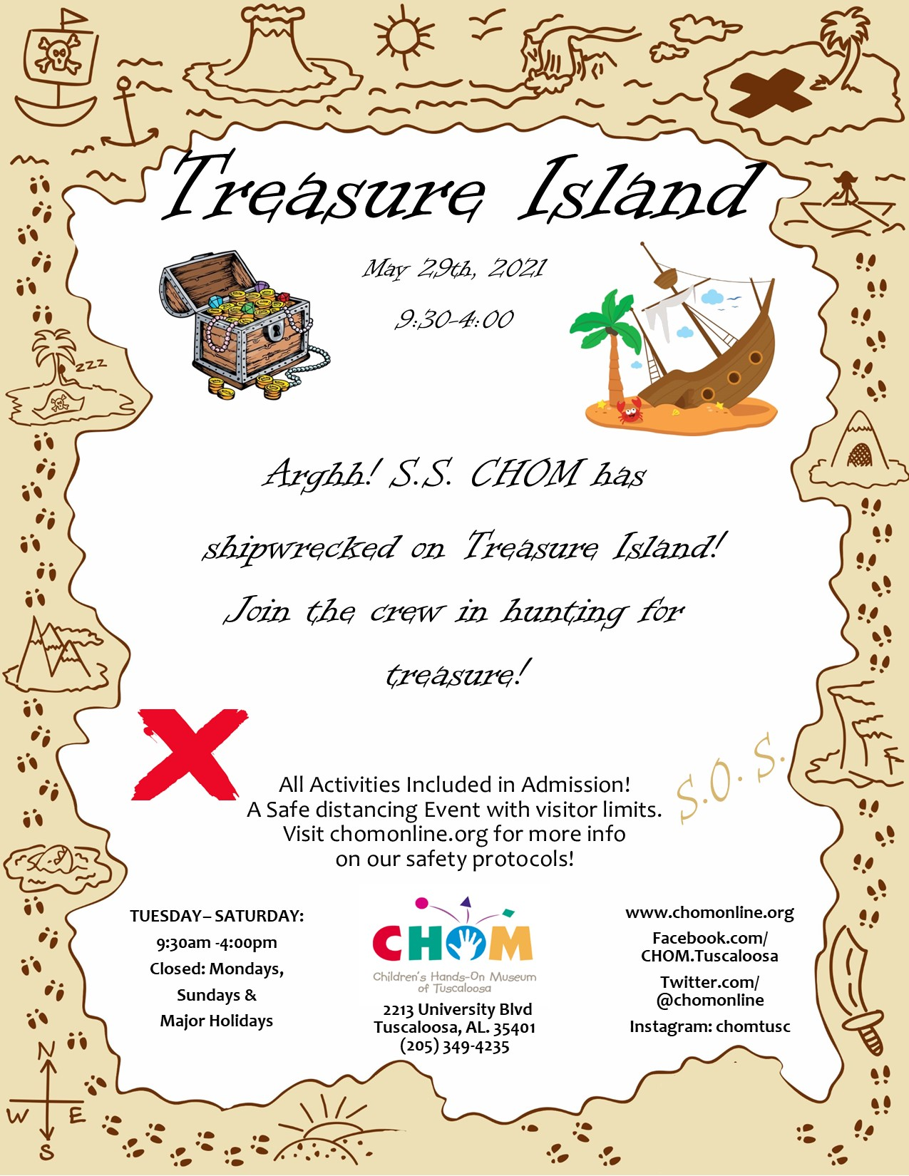 Treasure Island at CHOM!