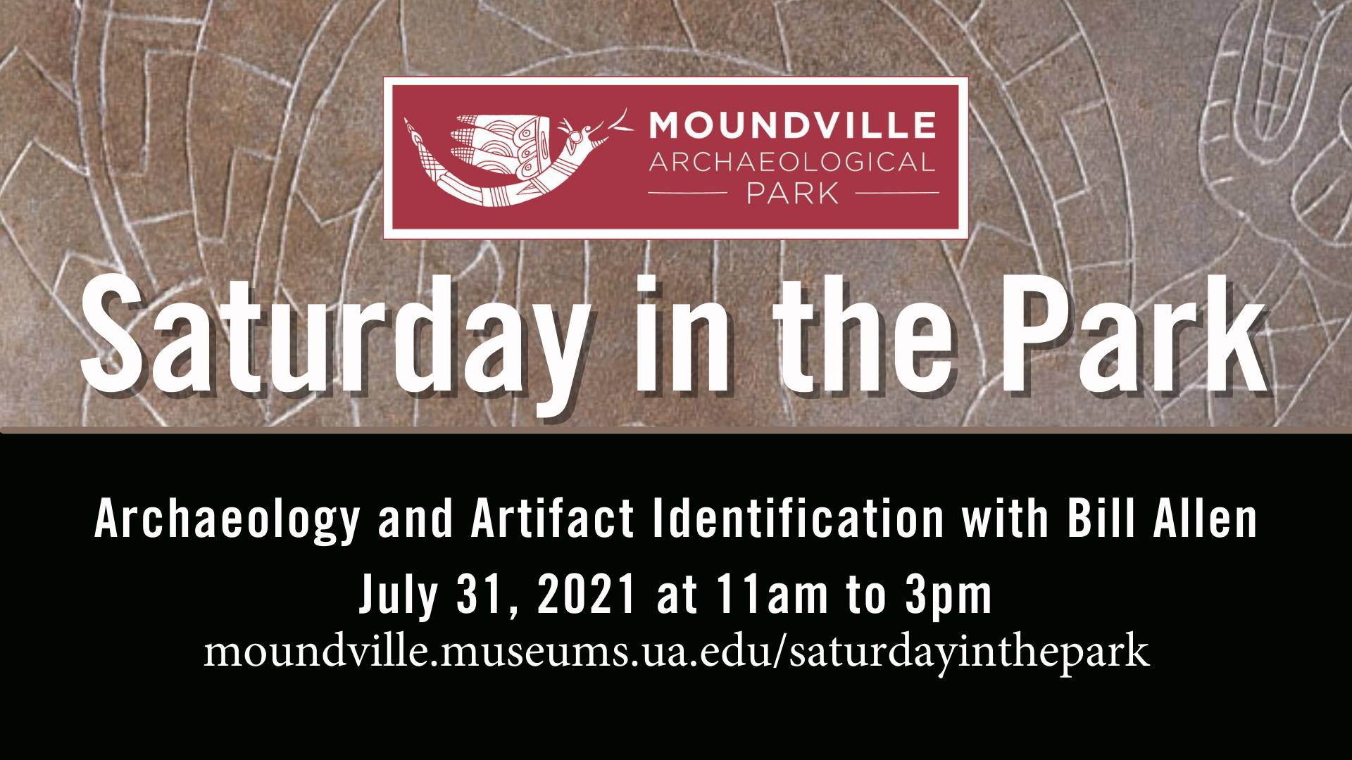 Saturday in the Park: Archaeology and Artifact Identification with Bill Allen