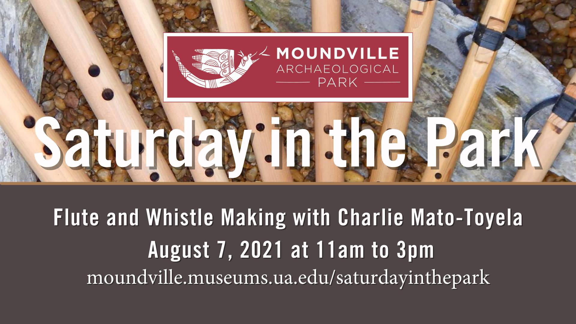 Saturday in the Park: Flute and Whistle Making with Charlie Mato-Toyela