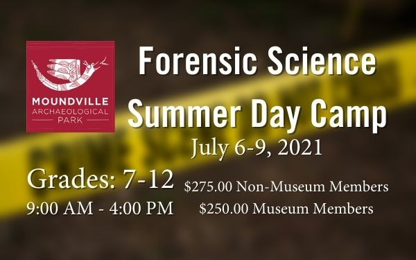 Moundville Forensic Science Summer Day Camp