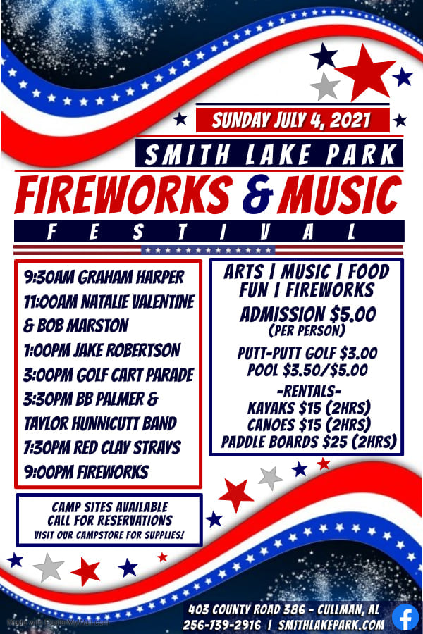 Smith Lake Park Fireworks and Music Festival 2021