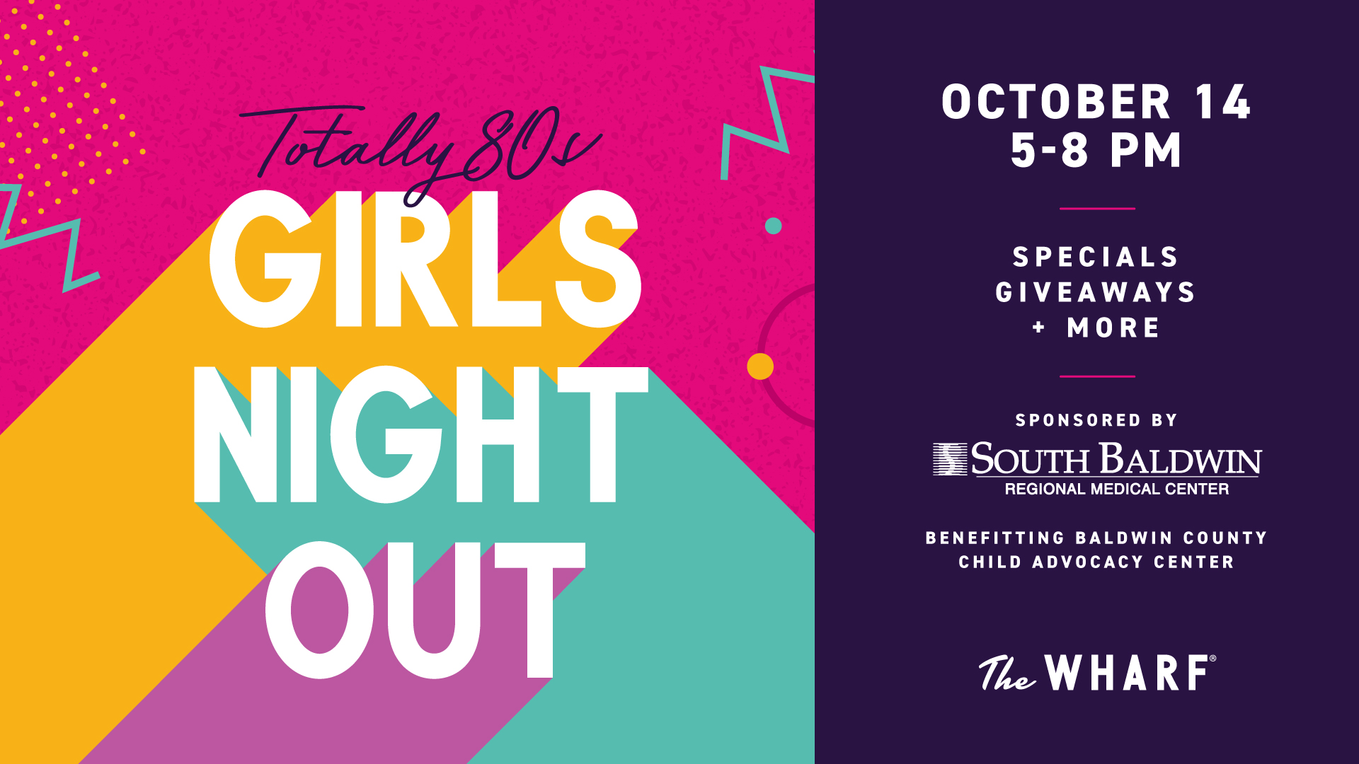 Totally 80's Girls' Night Out at The Wharf