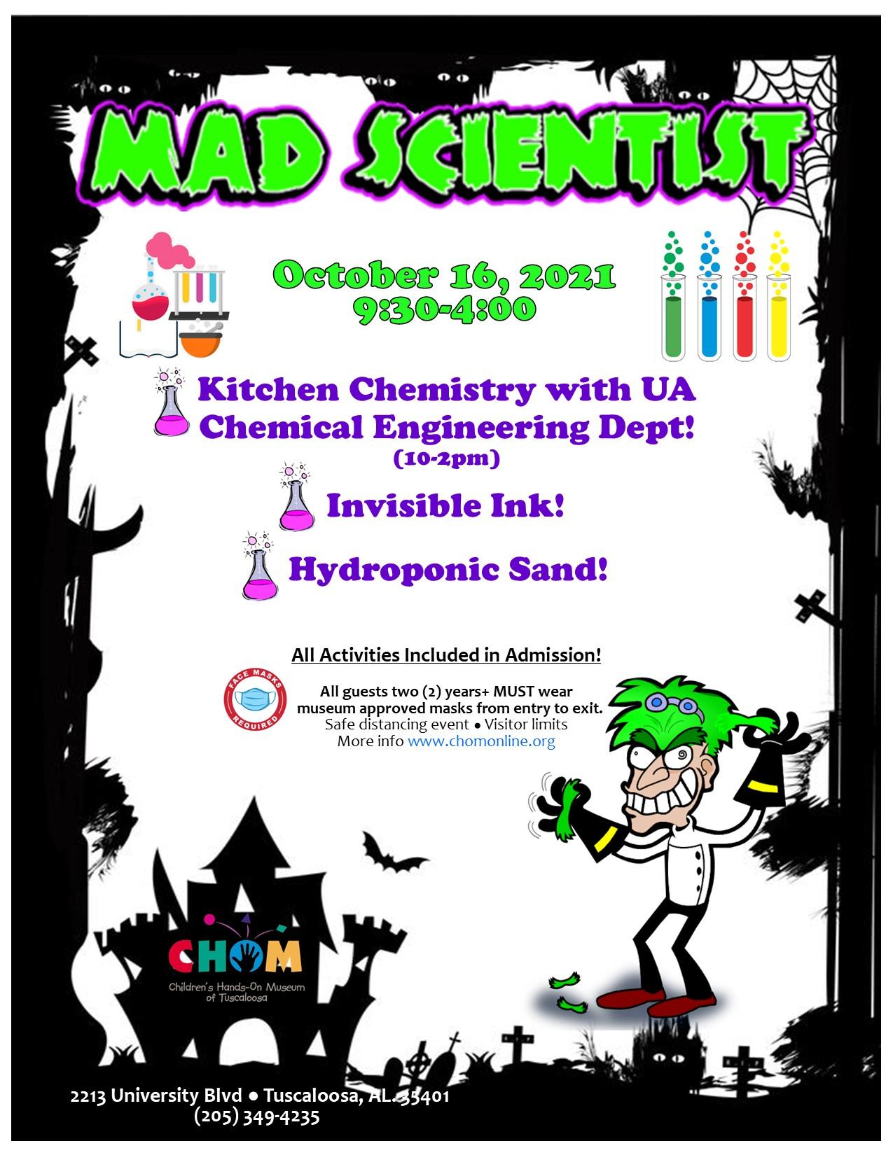 Mad Scientist at CHOM!