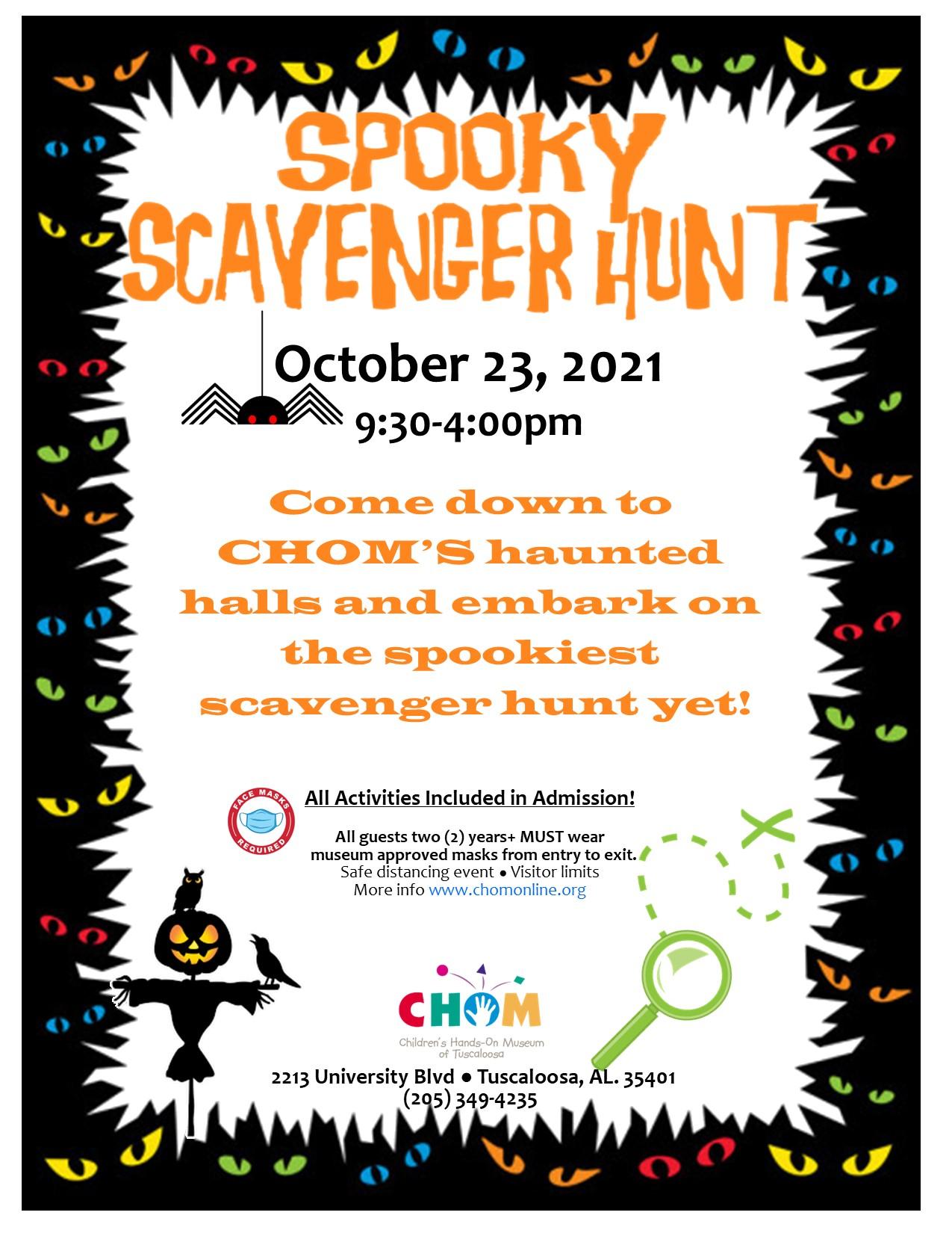 Spooky Scavenger Hunt at CHOM!